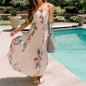 NWT Free People Beau Floral Smocked Maxi Dress